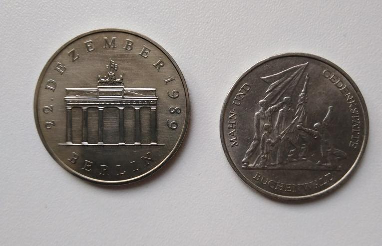 Bild 2: 10 und 20 Mark Münze DDR
