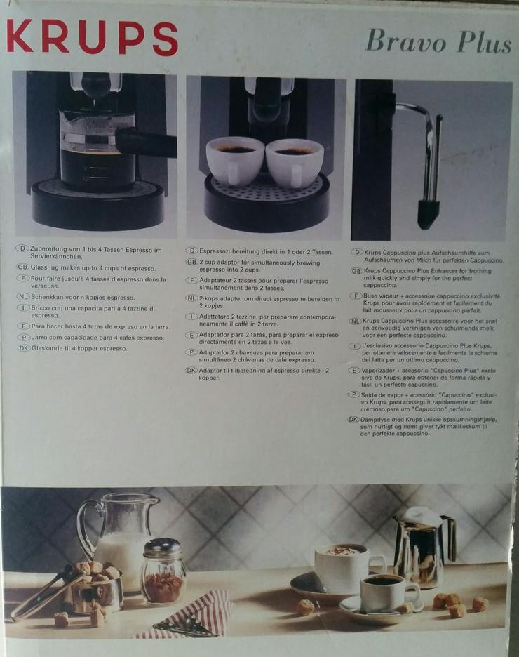 Bild 2: Krups Bravo Plus F 872 42 Espressomaschine schwarz mit komplettem Zubehör