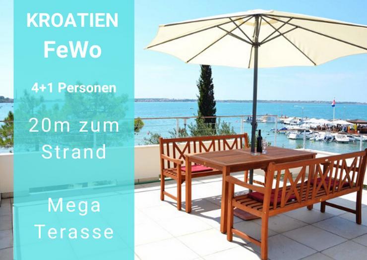 ❤ Kroatien Ferienwohnung DIREKT AM STRAND❤ Panorama Terasse