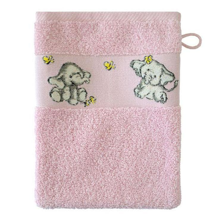 Dyckhoff Kinderwaschlappen Elefant rosa
