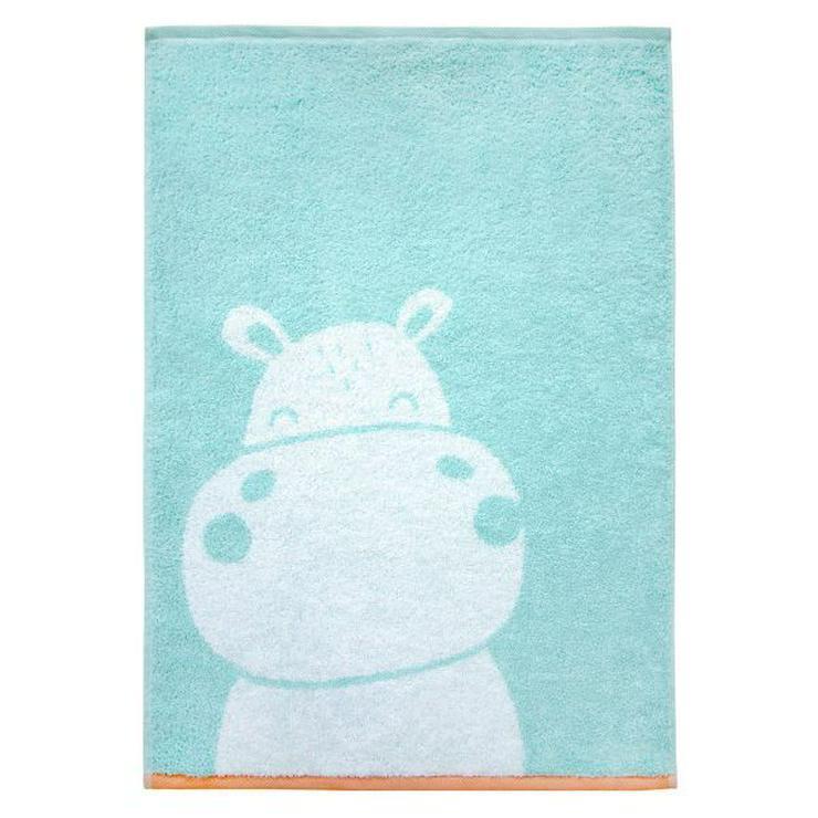 Dyckhoff Kinderhandtuch Hippo mint-grün
