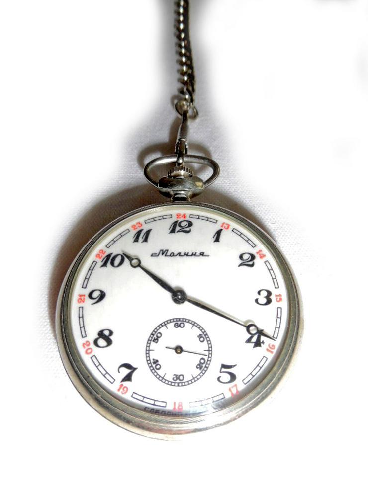 Bild 2: Schöne Taschenuhr von Molnija