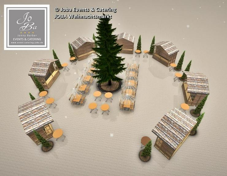 Bild 6: Mobiler Firmen Weihnachtsmarkt mieten - Weihnachtsfeier Ideen - Weihnachtshütten - Catering - Eventausstattung - Riesen Nussknacker - Riesen Räuchermann