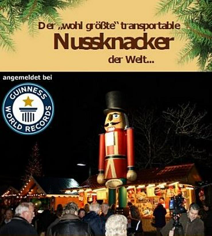 Bild 6: Riesen Nussknacker Figur grosse Holzfigur groß Nußknackerfigur Weihnachtsfeier - Weihnachtsmarkt - Firmenfeier - Theater - Kulisse Eventausstattung