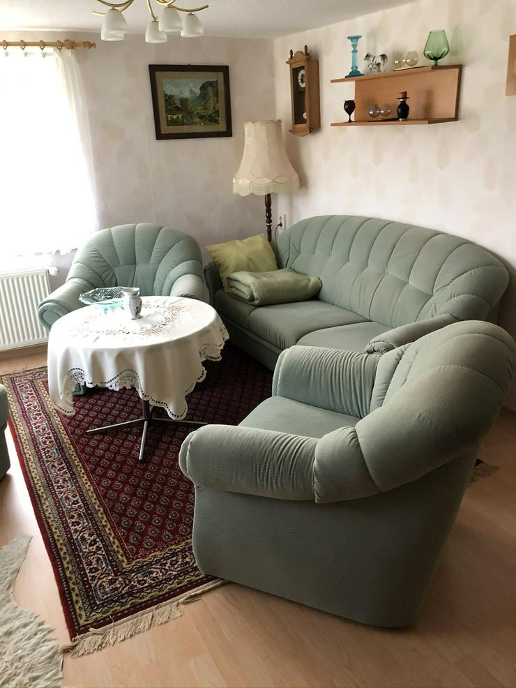 Sitzgruppe mit Sofa , 2 Sessel und einem Hocker