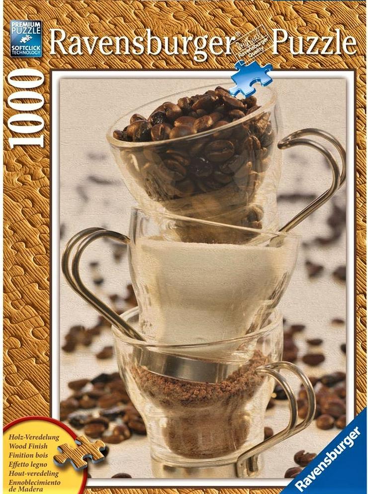 Ravensburger Puzzle Kaffee Stillleben 1000 Teile mit Softclick