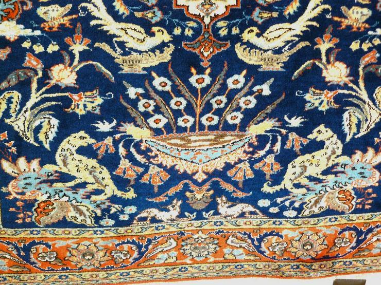 Bild 5: Orientteppich Teheran Wolle/Seide antik TOP (T085)