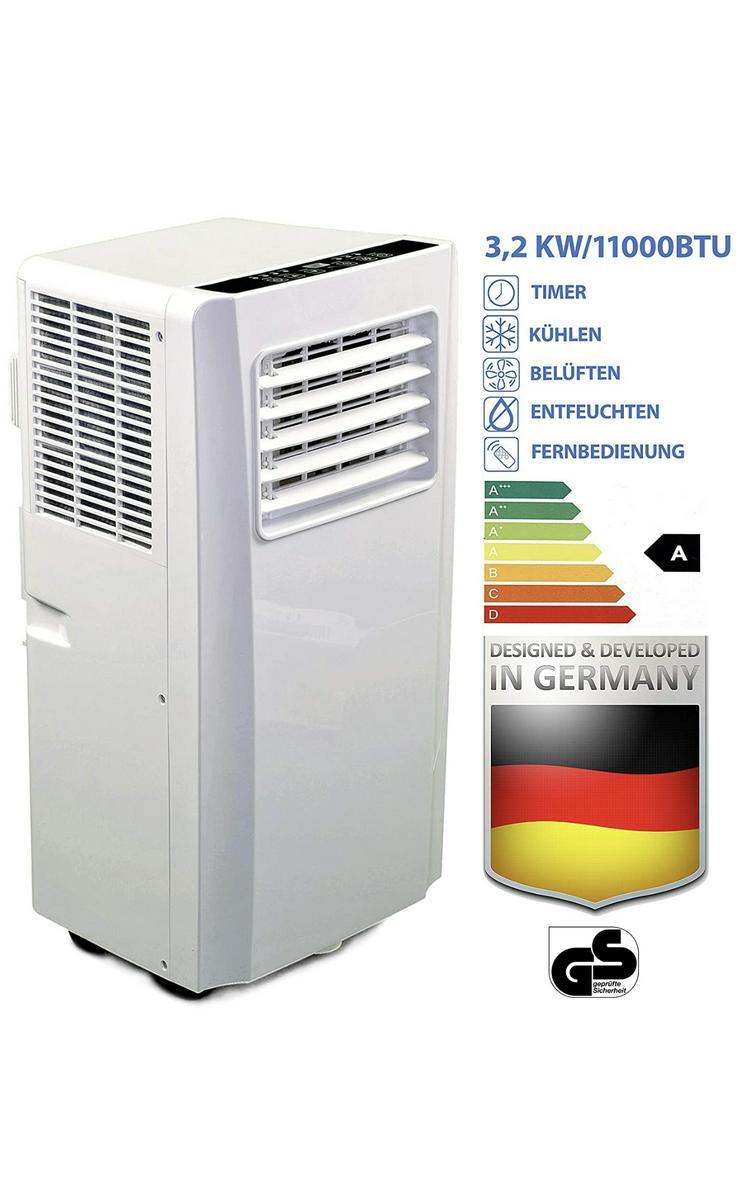 Klimaanlage mit Fernbedienung + Abluft-Schlauch für eine Fläche von max. 100m2