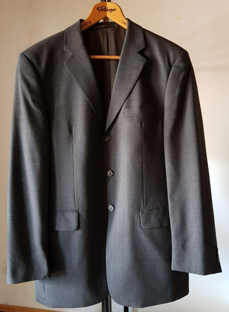 Herrenanzug Gr. 50 dunkelgrau mit zwei Hosen - Größen 48-50 / M - Bild 1