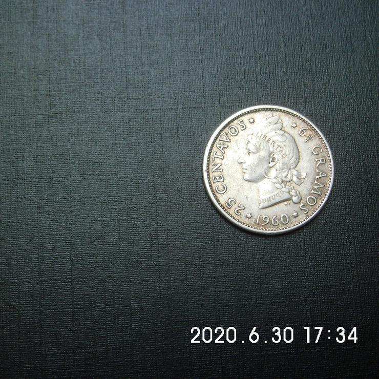 25 Centavos San Domingo 1960