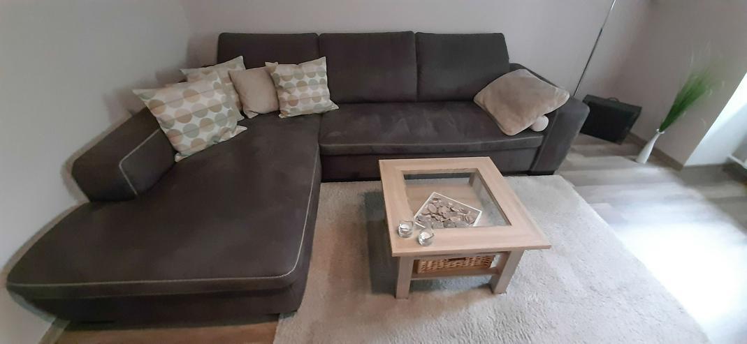 Sofa / Sitzgarnitur-L-Form- Bezug Microfaser Deluxe anthrazit- sehr gute Qualität!