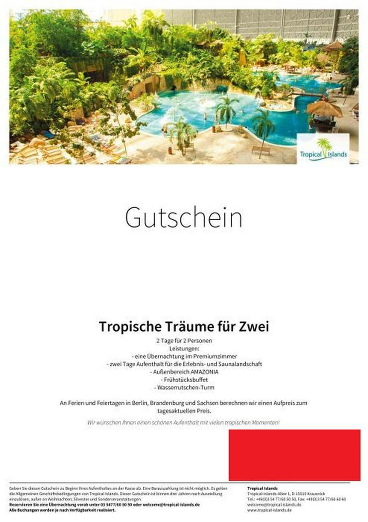 Tropical Island Gutschein im Wert von 250 Euro