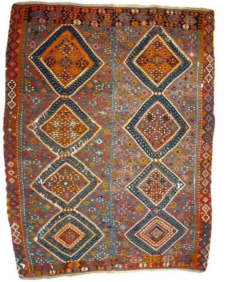 Kelim türkisch 19te Jh. 227x175 (T069)