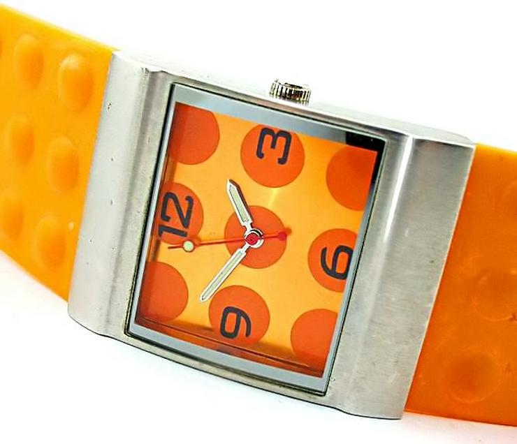Bild 5: Damen Uhr - schöne moderne orange Farbene Damenarmband Uhr