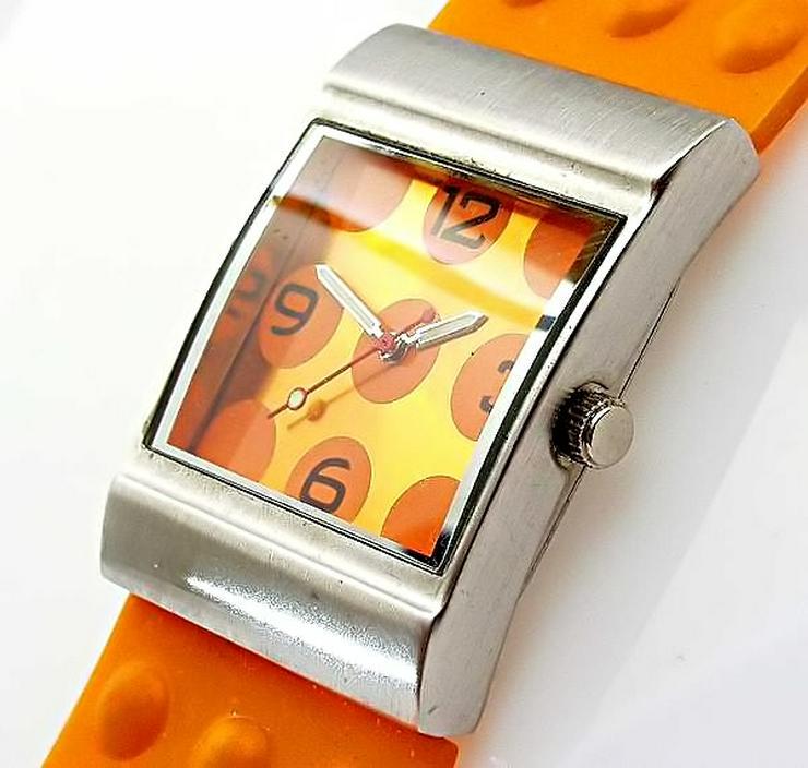 Bild 6: Damen Uhr - schöne moderne orange Farbene Damenarmband Uhr