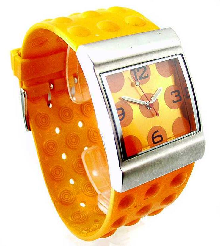 Bild 4: Damen Uhr - schöne moderne orange Farbene Damenarmband Uhr
