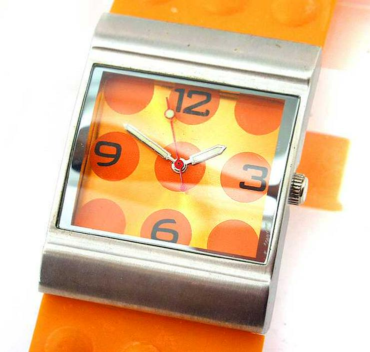 Bild 2: Damen Uhr - schöne moderne orange Farbene Damenarmband Uhr