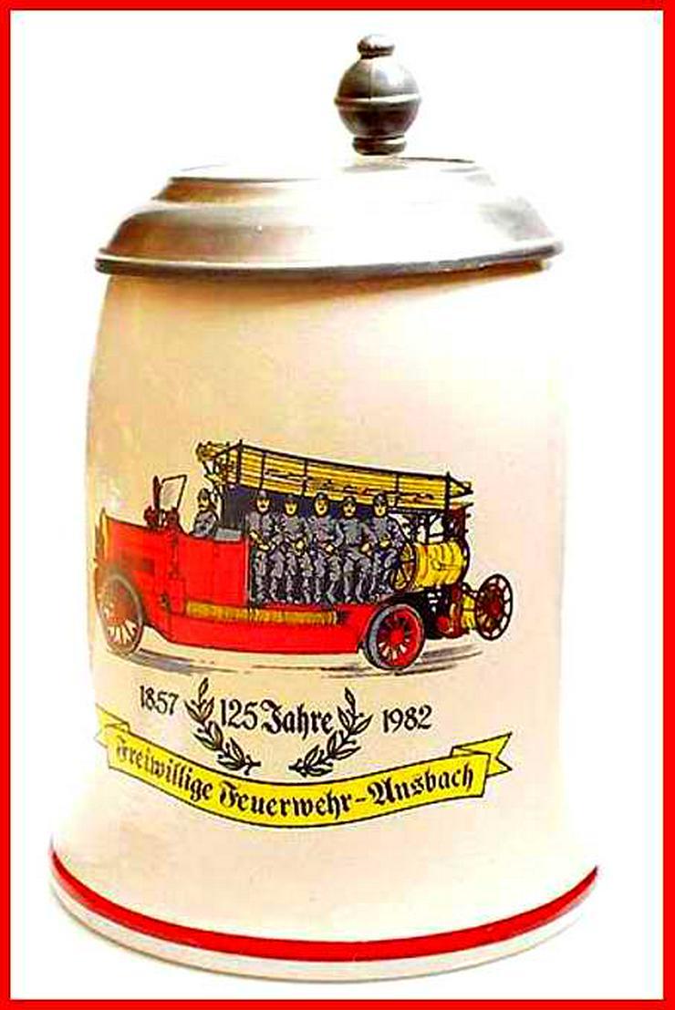 BIERKRUG - Freiwillige Feuerwehr Ansbach - 125 Jahre - Bierkrug