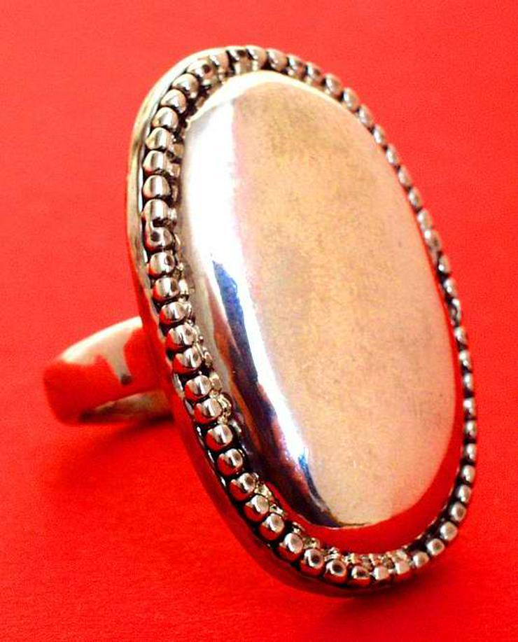 großer schöner RING - Ø 19mm - Silberfarben - sehr auffallend