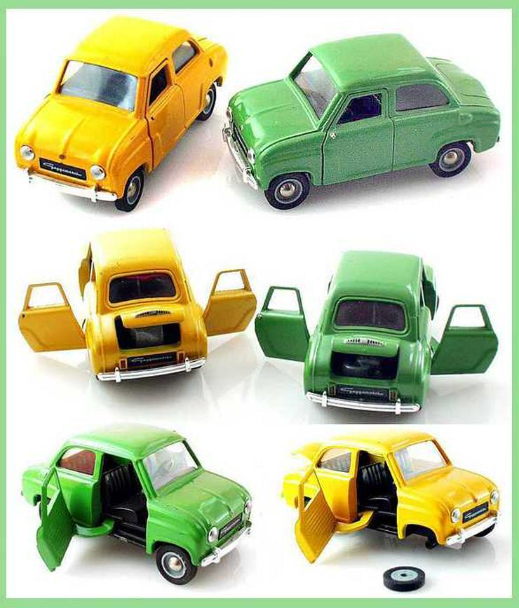 SCHUCO Modell Auto - 2x GOGGOMOBIL - Farbe gelb + grün - SCHUCO