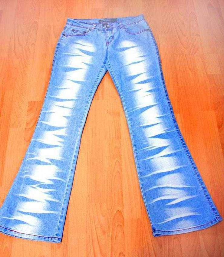 Last Girl - Damen SCHLAG JEANS blau coole Waschung Gr. 36 (S)
