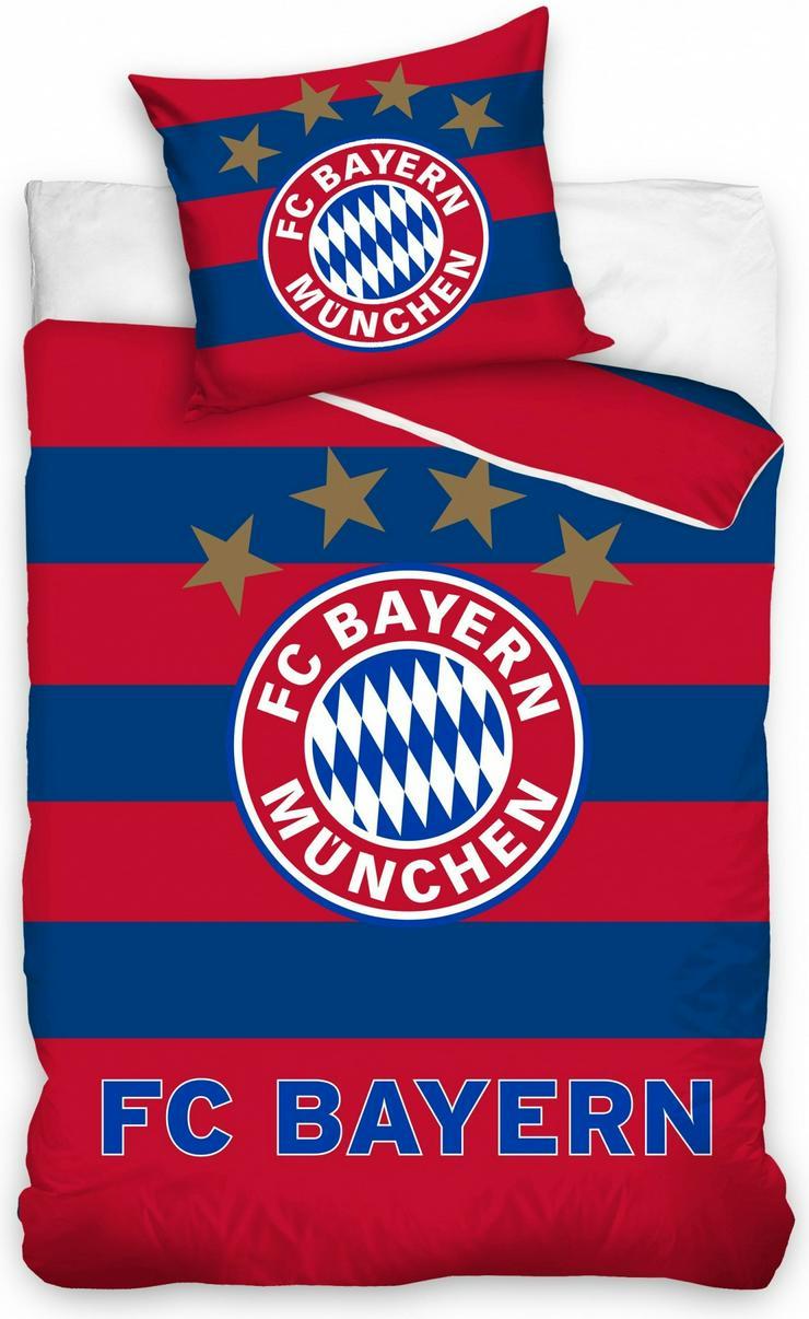 FC Bayern München Bettbezug blau / rot 140 x 200 cm