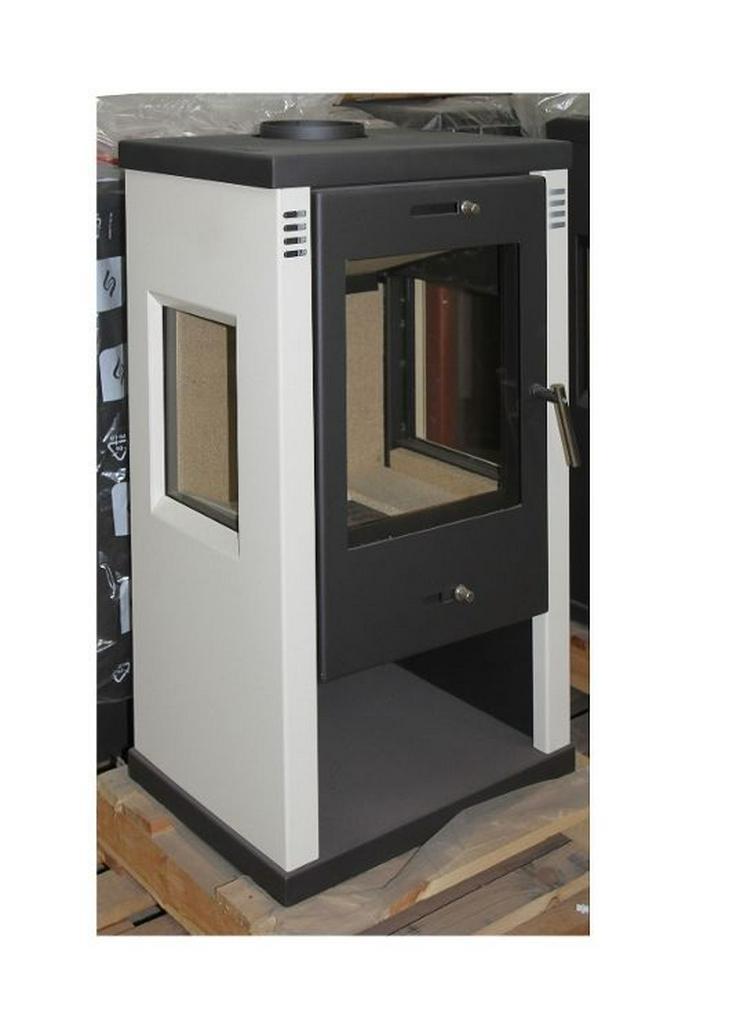 1A Kaminofen Vision WEISS 7,5 kW Raumluft erwärmend Ofen Kamin prehalle