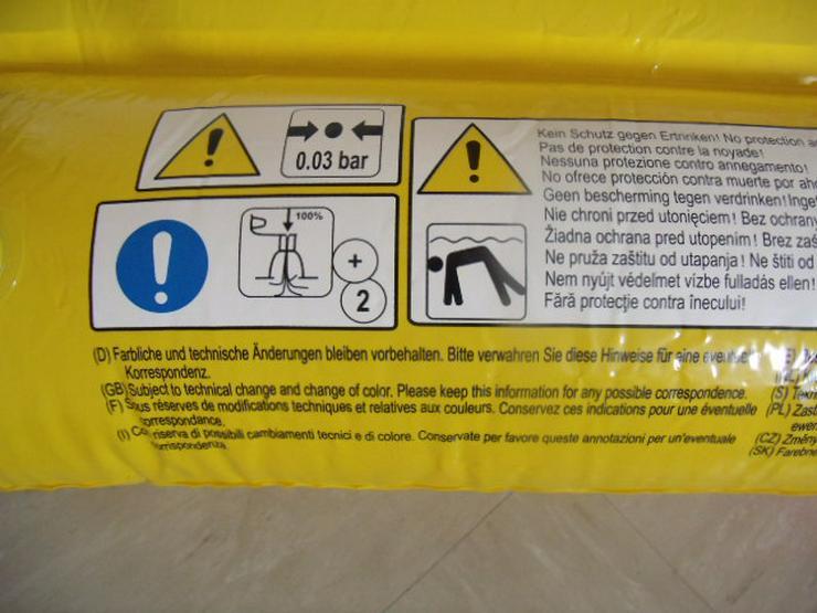 Bild 2: Luftmatratze, Schwimmmatratze, Stieleis