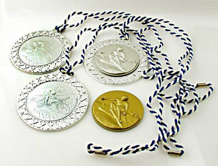 4x Sport Medaille 3x SILBER-1x GOLD Medaille Skisport+ Rad Sport
