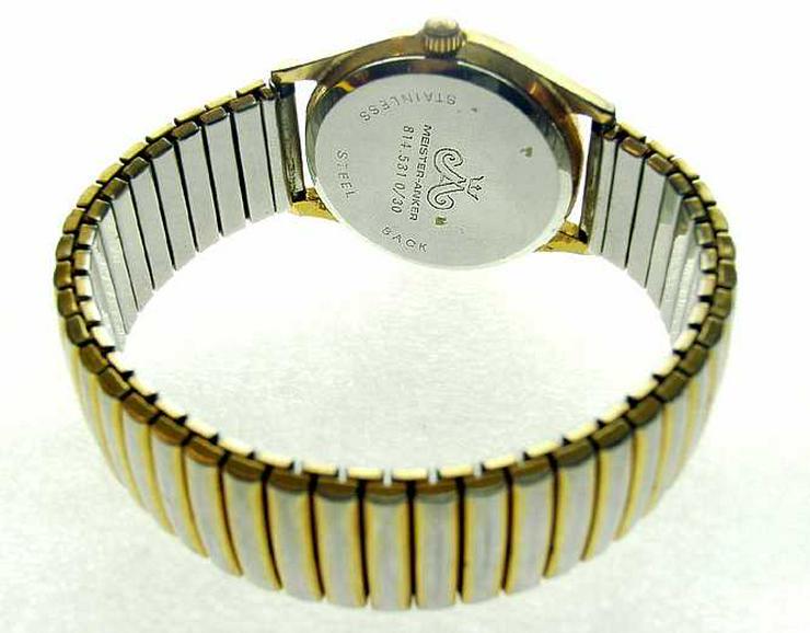 Bild 6: HAU MEISTER ANKER - 17 Rubis - Handaufzug - vergoldet - ANTICHOC