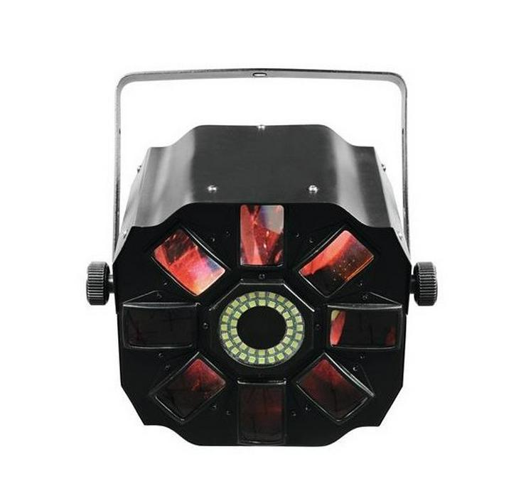 Bild 2: Verleih LED Hybrid Flowereffekt Schweinwerfer Partylicht mieten