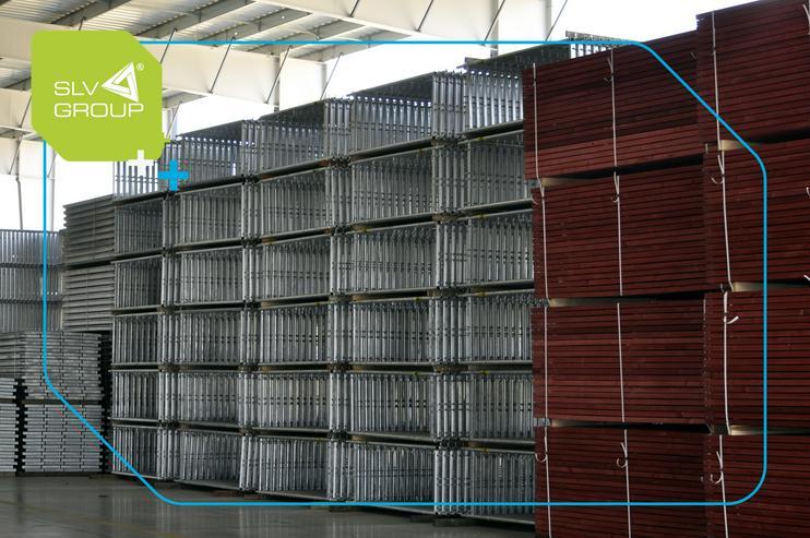 Bild 4: Neues Gerüst SLV-70 Typ. Plettac 500m2 Steel Stahl Fassadengerüst Scaffolding