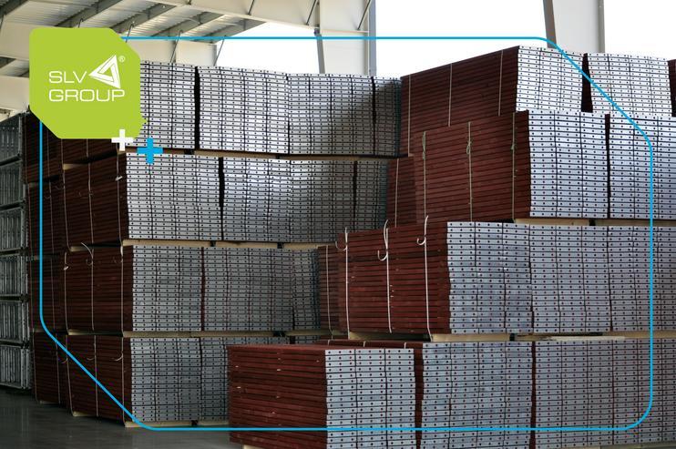Bild 5: Neues Gerüst SLV-70 Typ. Plettac 500m2 Steel Stahl Fassadengerüst Scaffolding