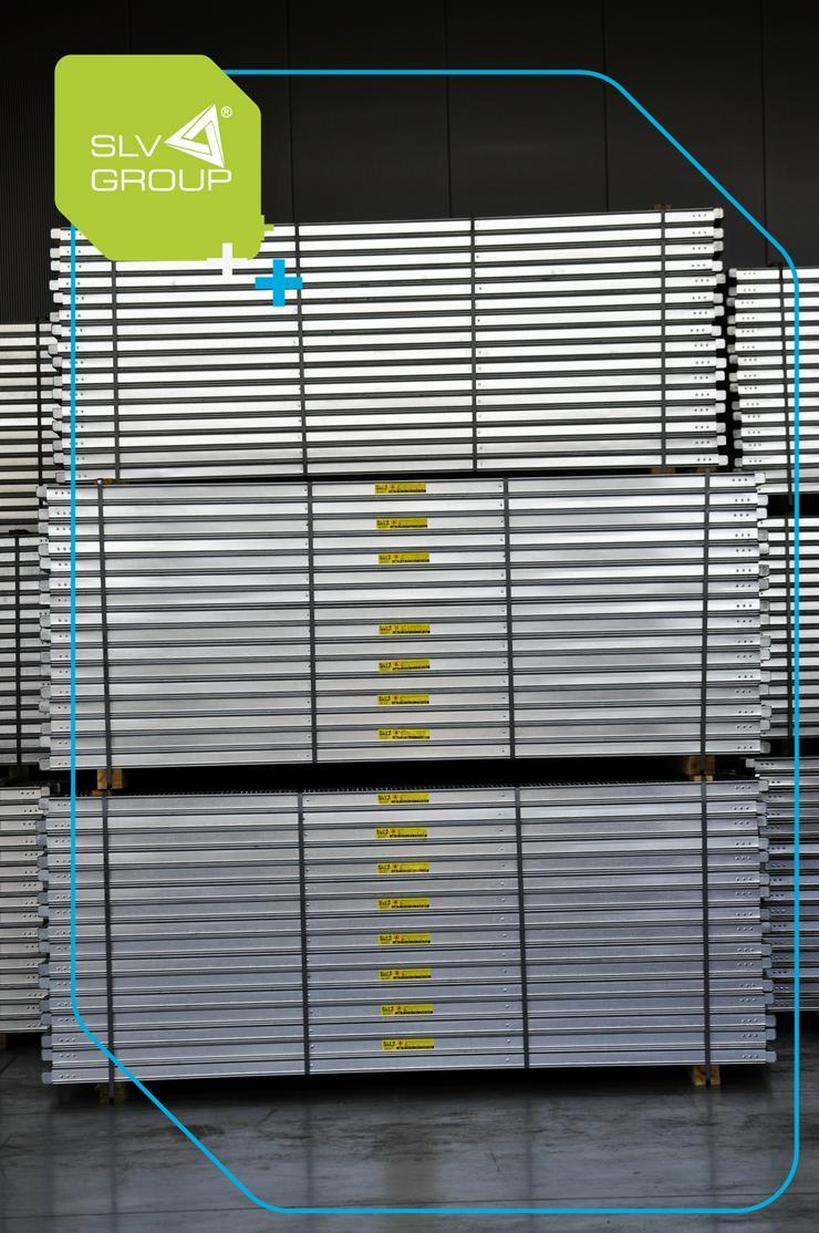 Bild 6: Neues Gerüst SLV-70 Typ. Plettac 500m2 Steel Stahl Fassadengerüst Scaffolding