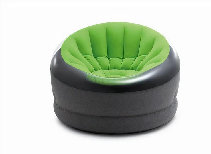 Intex aufblasbarer Loungesessel 112 cm Vinyl grau/grün