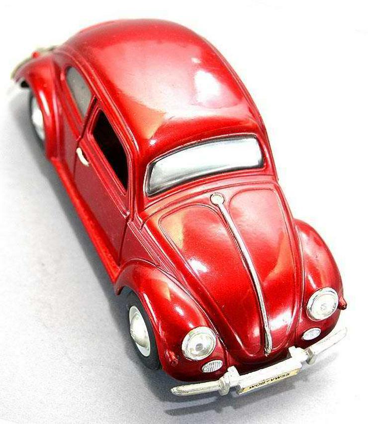 Modellauto Volkswagen VW Käfer 1955 rot metallic Oldtimer L 16cm