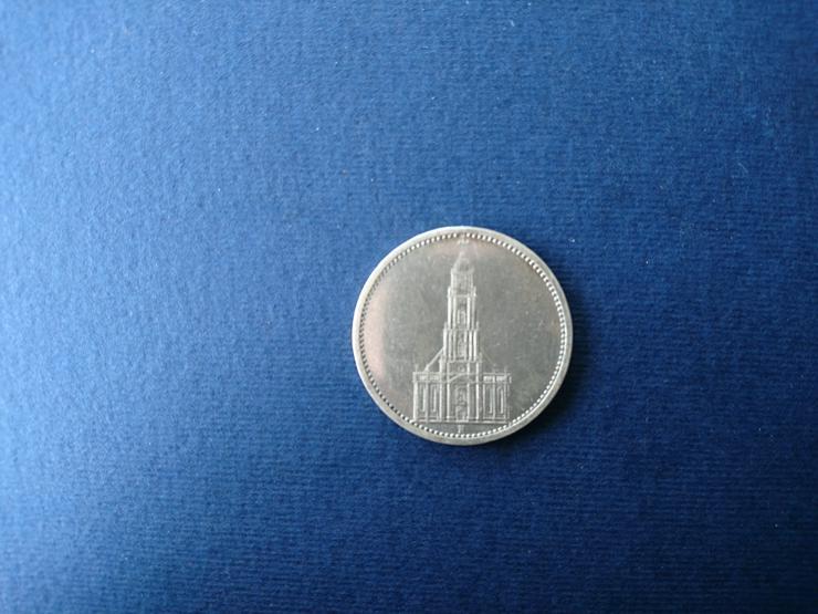 Bild 3: 5 Reichsmark - Silbermünze aus dem Jahr 1934. incl. Versand