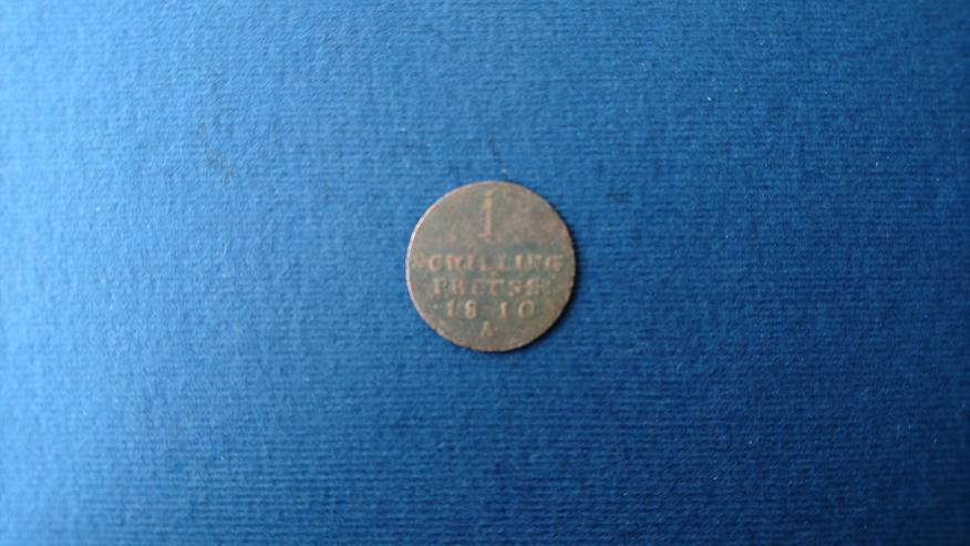 Verkaufe 1 Schilling - Münze aus dem Jahr 1810. incl. Versand