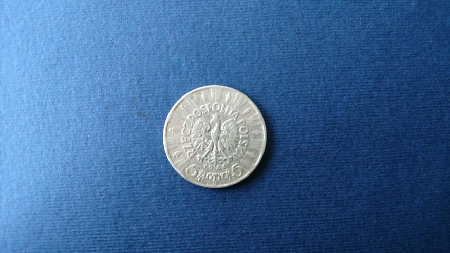 Bild 4: Verkaufe 10 Zloty- Sielbermünze von Jahre 1936. incl. Versand