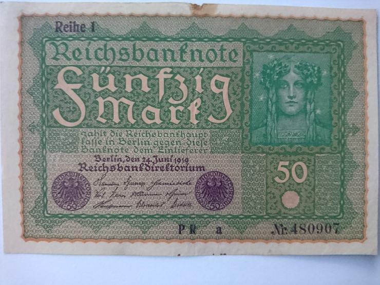 Verkaufe 50 Mark von 1919. incl. Versand
