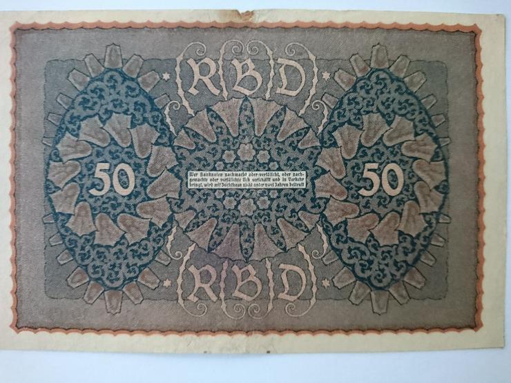 Bild 2: Verkaufe 50 Mark von 1919. incl. Versand