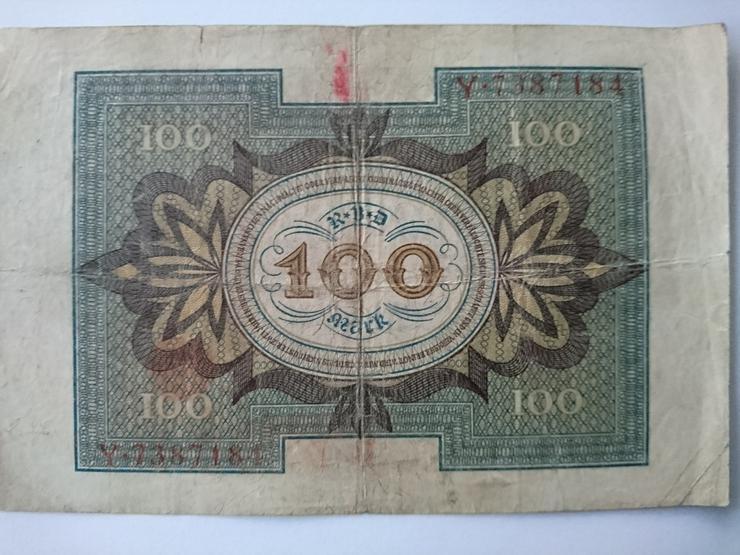 Verkaufe 100 Mark - Banknote von 1920. incl.Versand - Deutsche Mark - Bild 2