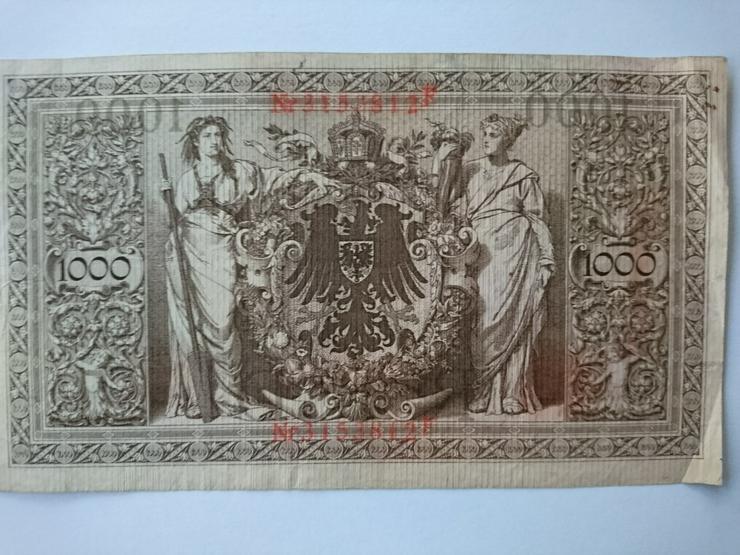 Bild 2: Verkaufe 1000 Mark - Banknote von 1910. incl.Versand