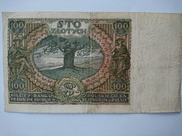 Bild 2: Verkaufe 100 Zloty - Banknote von 1934. incl. Versand
