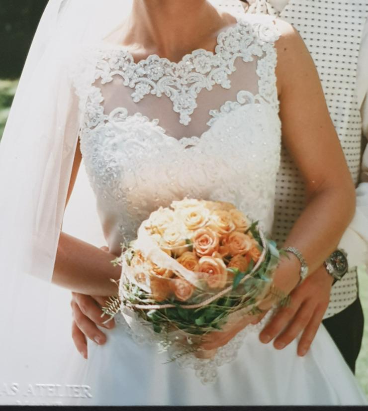 Brautkleid 34/36, Farbe: champagner, Marke St. Patrick, sehr gut erhalten - Größen 32-34 / XS - Bild 1
