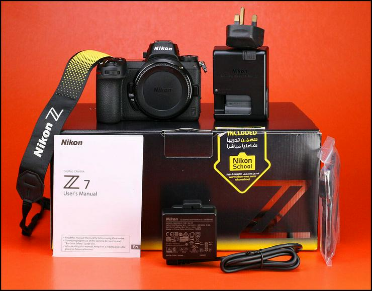 Die Nikon Z7 kompaktiert das Vollformat-Kameragehäuse + Akku / Ladegerät und 1116-Schuss-Box