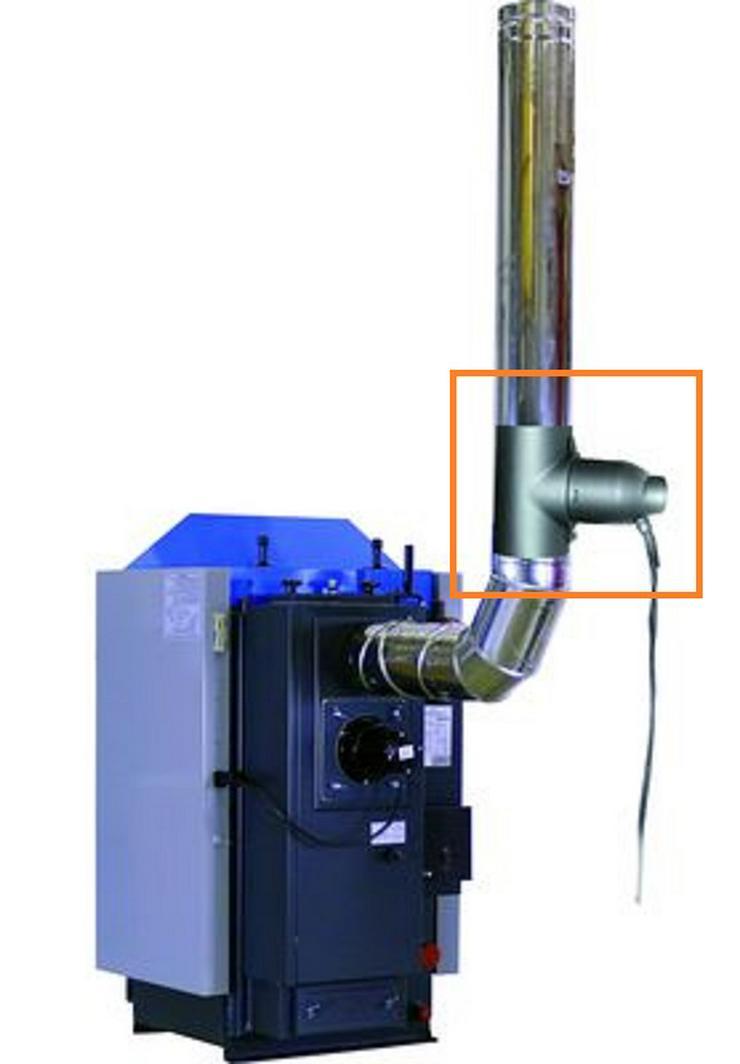 Partikelabscheider Feinstaubabscheider Airjekt 1 für Holzvergaser mit Sattelstück 130mm