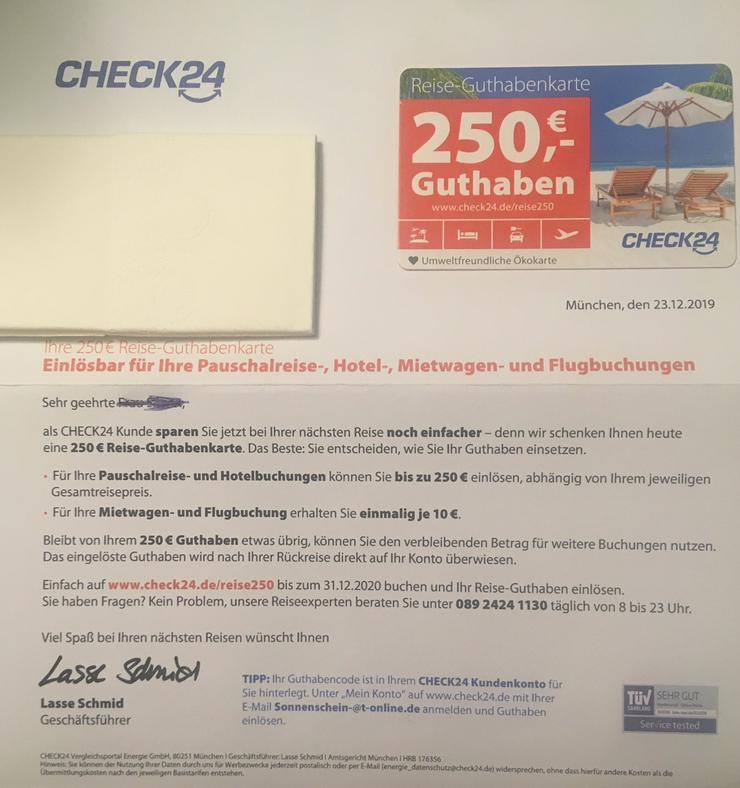 Bild 3: 250 Euro Rabatt Urlaub über Check 24