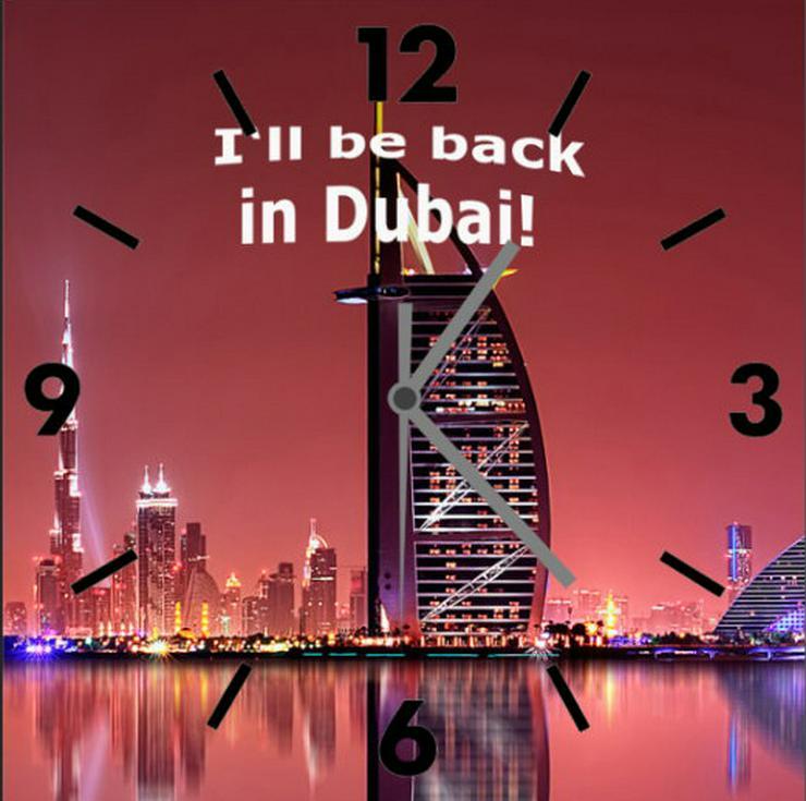 Wanduhr! Souvenir aus Dubai! Hastewas-bistewas!