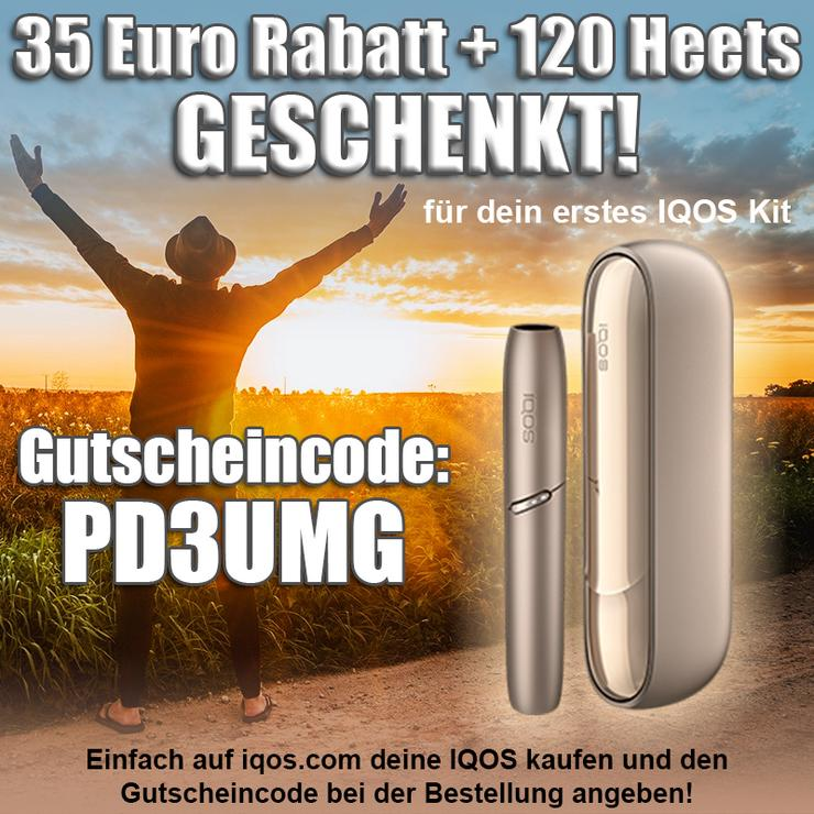 Hol dir 35€ IQOS-Rabatt und Heets im Wert von 36€ für deine IQOS 3 DUO - PD3UMG